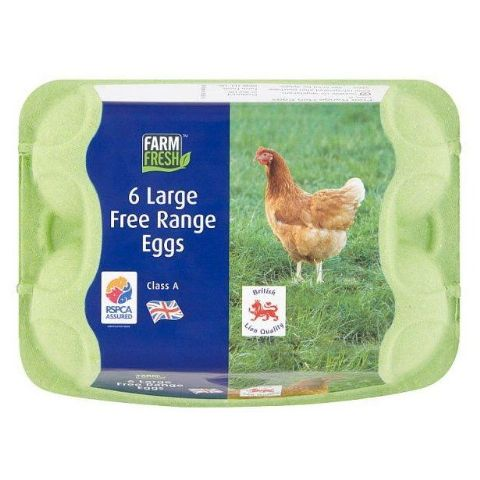 6 x Large Free Range Fresh Eggs - Farm Fresh Class A